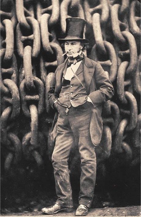 Ingenieur Isambard Kingdom Brunel, geestelijk vader van talrijke ijzeren constructies waaronder schepen zoals de Great Britain, Great Eastern en Great Western. (foto Wikipedia)